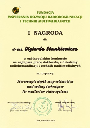 SIGMM Award for Outstanding PhD Thesis in Multimedia Computing, Communications and Applications